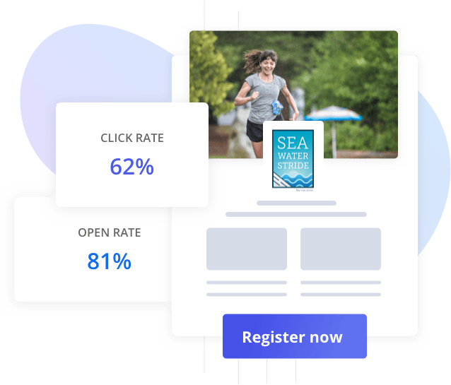 mockup of an email template