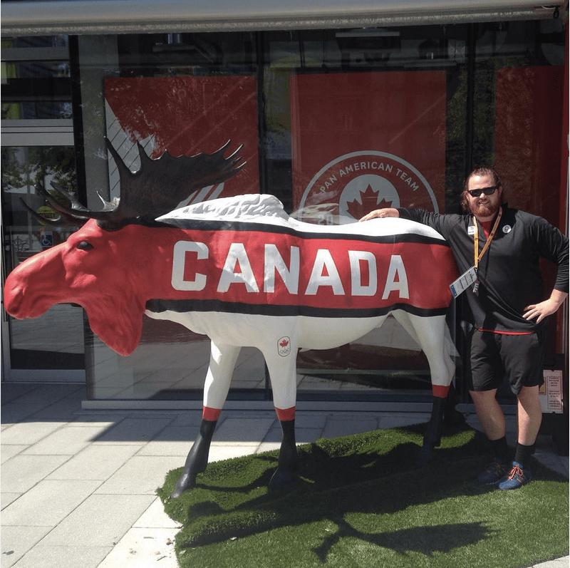 Tim at Pan Ams