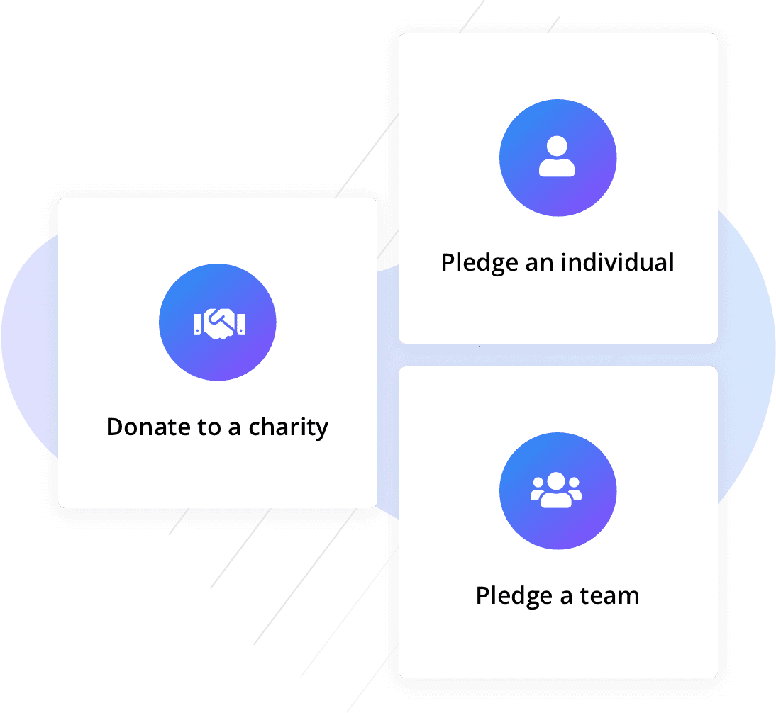 Donate an individual, charity and team icons