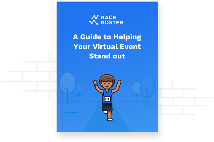 e-book cover of a woman running a virtual race