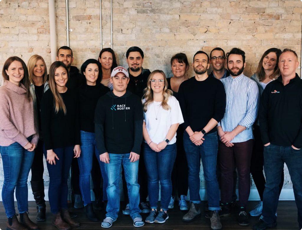 group photo of customer success team